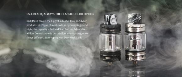 Advken Dark Mesh Tank Colors