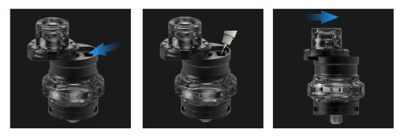 Advken Manta Tank Sliding Refill System