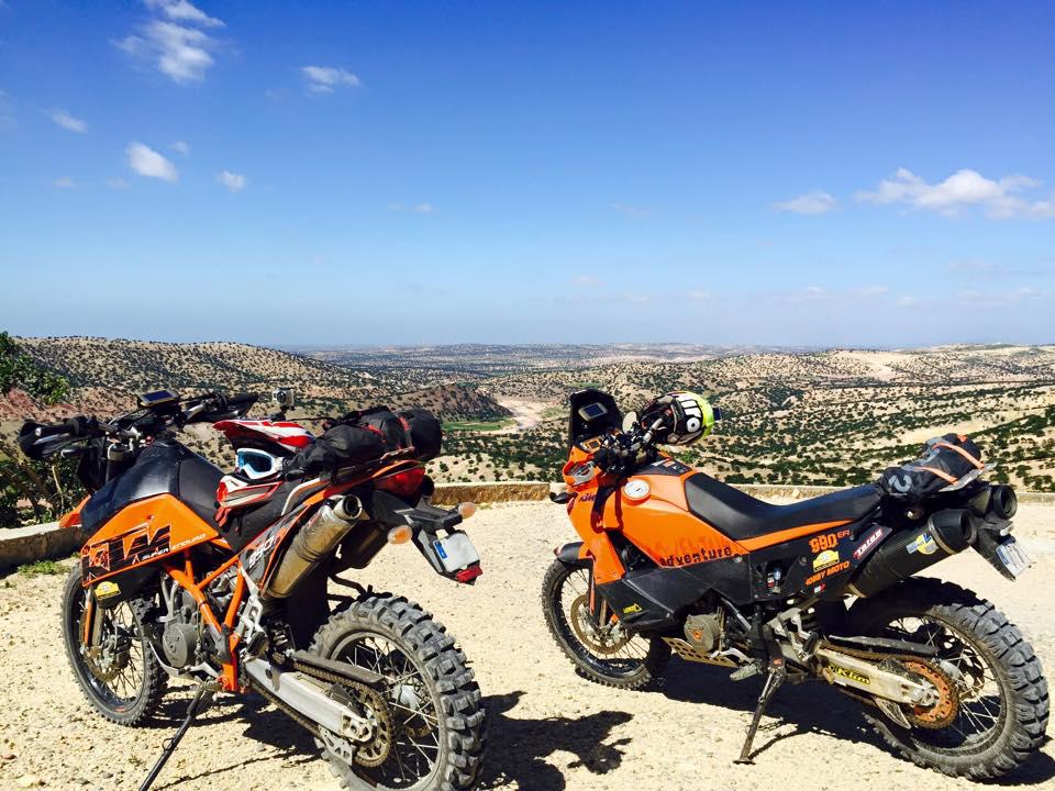Ktm Lc8 de camino a Essaouira