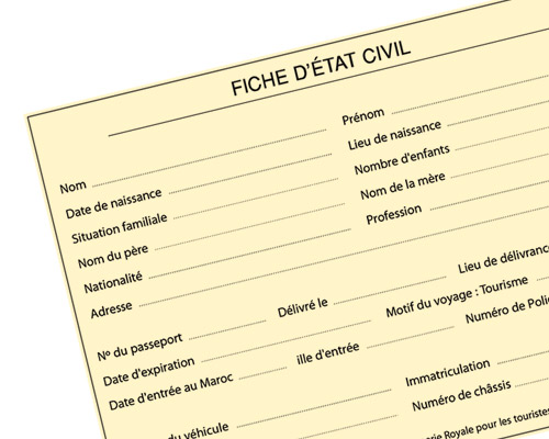 La fiche, el documento que agiliza el paso por los controles