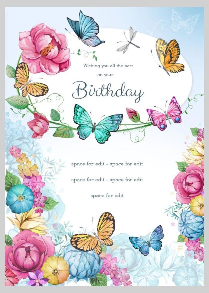 Butterfly Happy Birthday Granddaughter Messages