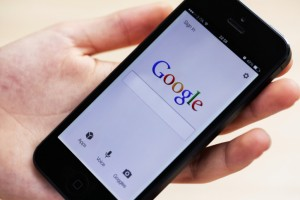 Photo: Mobile device, Google search engine marketing