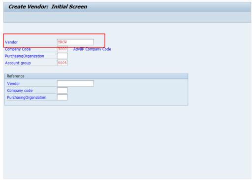 Carrier Vendor Master in SAP