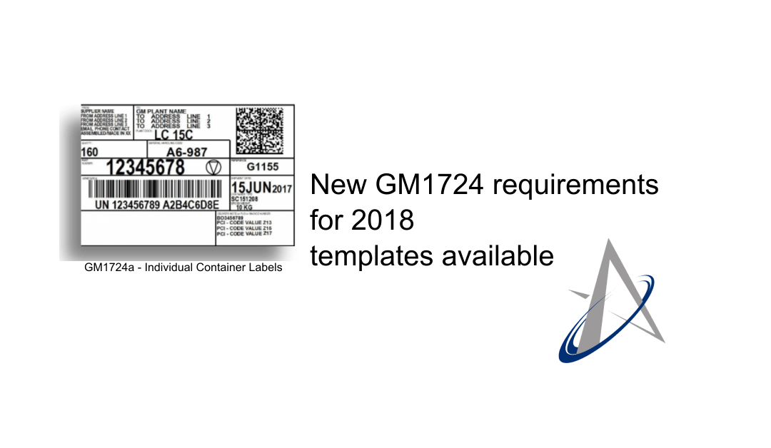 New GM1724 requirements for 2018