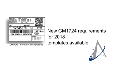 New GM1724 requirements for 2018 templates available
