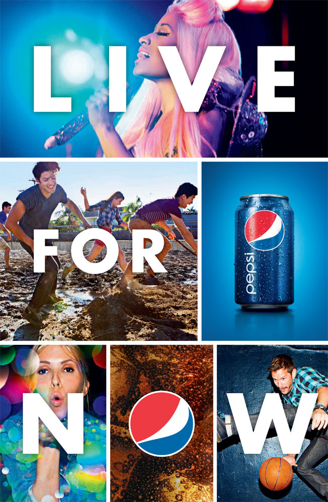 Pepsi' Live For Now campaign, this one with Nicki Minaj from May 2012.