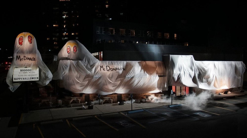 Burger King Dressed Up as the Ghost of McDonald's in This Scary Good Halloween Prank