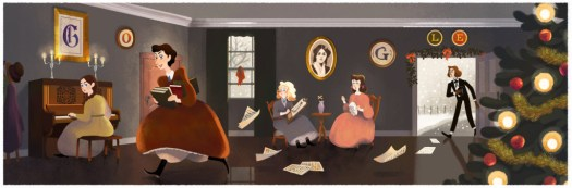 Louisa May Alcotts Google Doodle (GalleyCat)