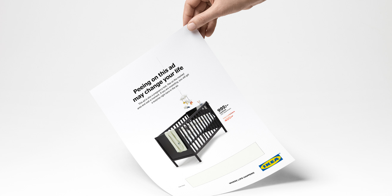 Ikea Wants You To Pee On This Ad If Youre Pregnant It