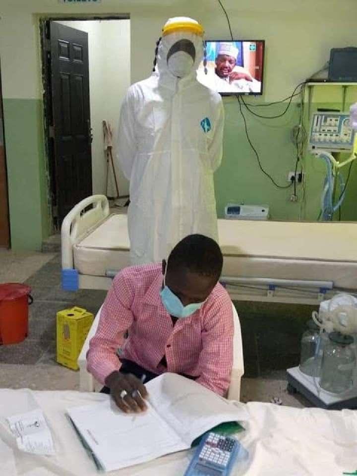 Invigilator Invigilates Covid Patient As He Write His Paper In Isolation. 7