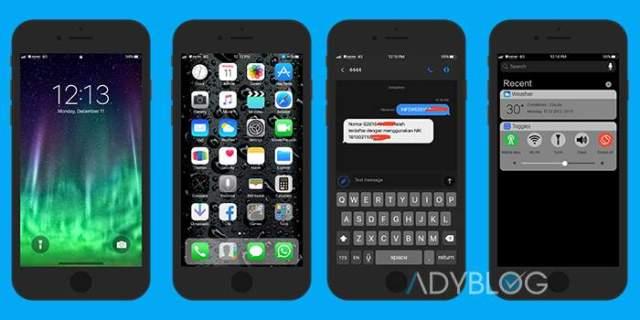 Download Tema iOS X Black Xiaomi