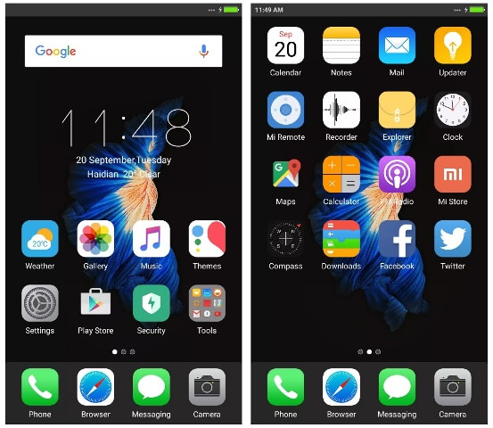 Download Tema iPhone 7 Dark