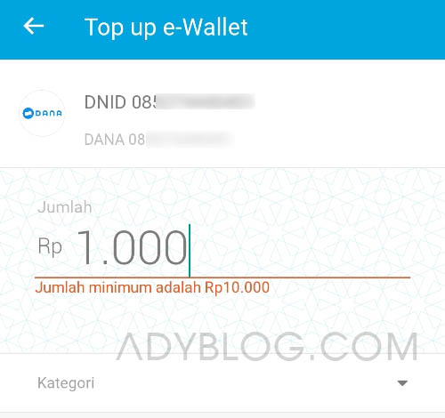 Cara Top Up Saldo DANA dari Jenius