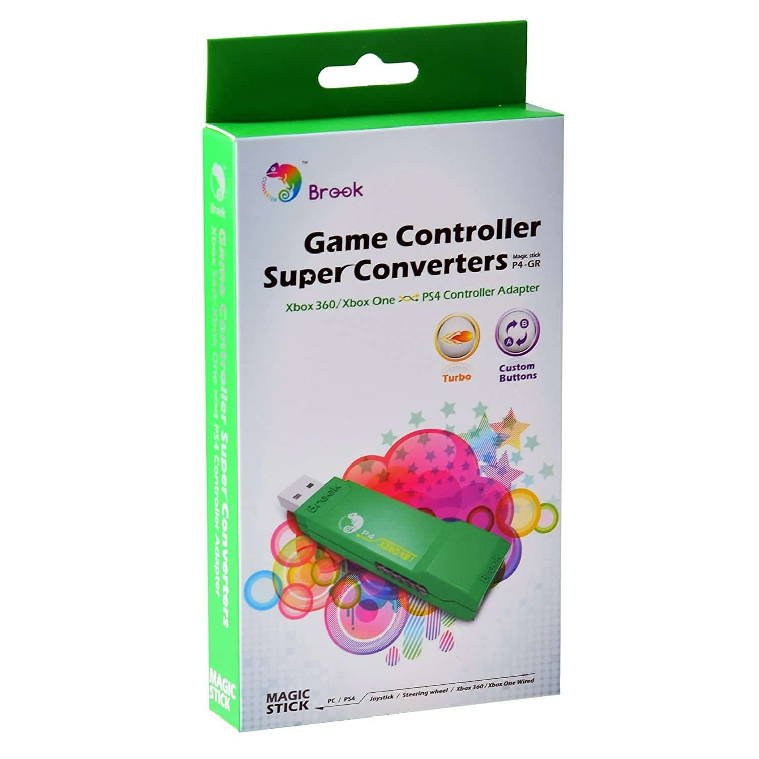 Brook XBOX 360 / ONE to PS4 Super Converter GREEN