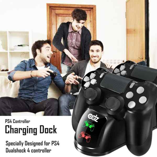 adz ps4 dual controller charging dock charger