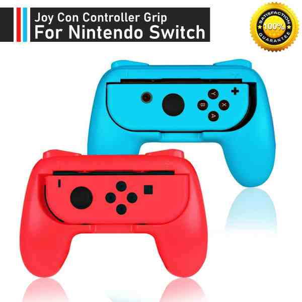 red blue nintendo switch joy con grip comfort handles