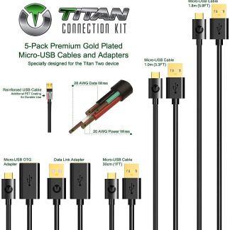 titan 5 piece usb extension cable kit set