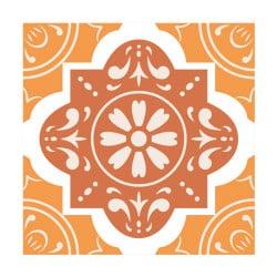 stickers carreaux de ciment orangeflowers ciment0028
