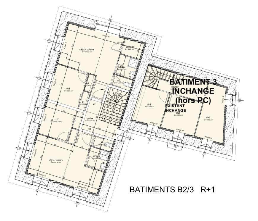 Bâtiments 2-3, premier étage