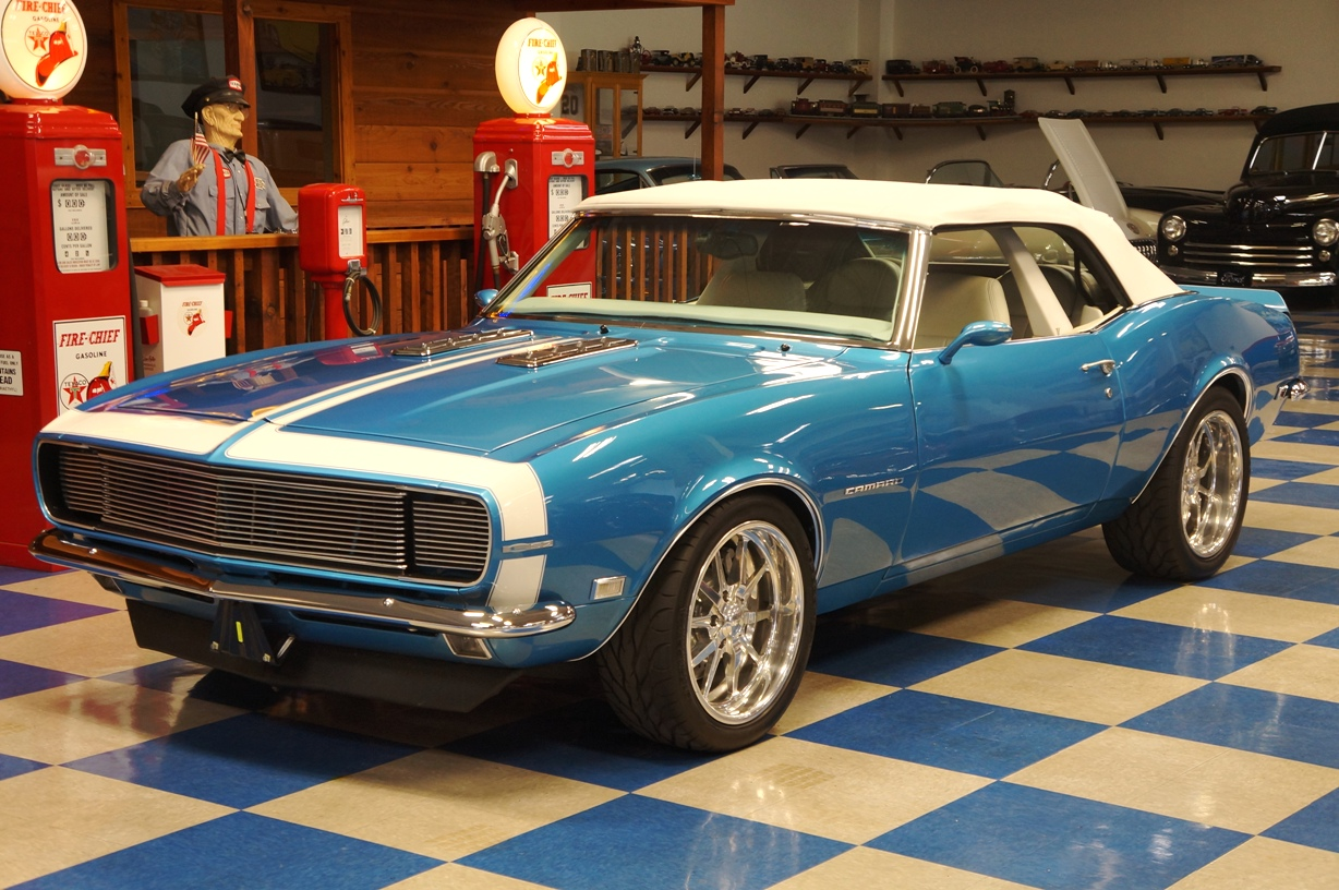 1968 Chevrolet Camaro Convertible LS2     Blue   White     A E Classic Cars 1968 Chevrolet Camaro Convertible LS2     Blue   White full
