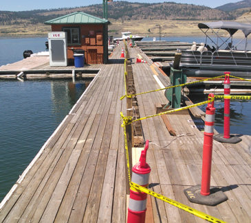Seven Bays Marina Fuel Repairs - Preparing the Site