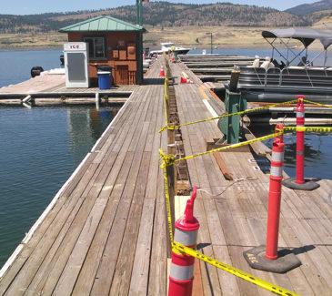 Seven Bays Marina Fuel Repairs - Preparing the Site
