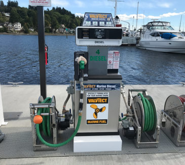 Swantown Marina Fuel Station - New Diesel Pump 2