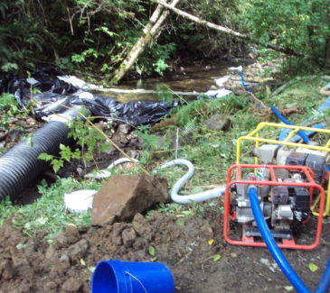 Dewatering and Diversion for the New Stream