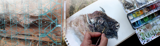 PINTANDO LA PREHISTORIA – Taller de dibujo científico y pintura naturalista en Atapuerca