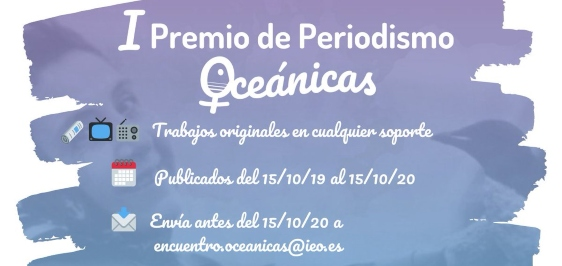 Convocatoria abierta al I Premio de Periodismo Oceánicas