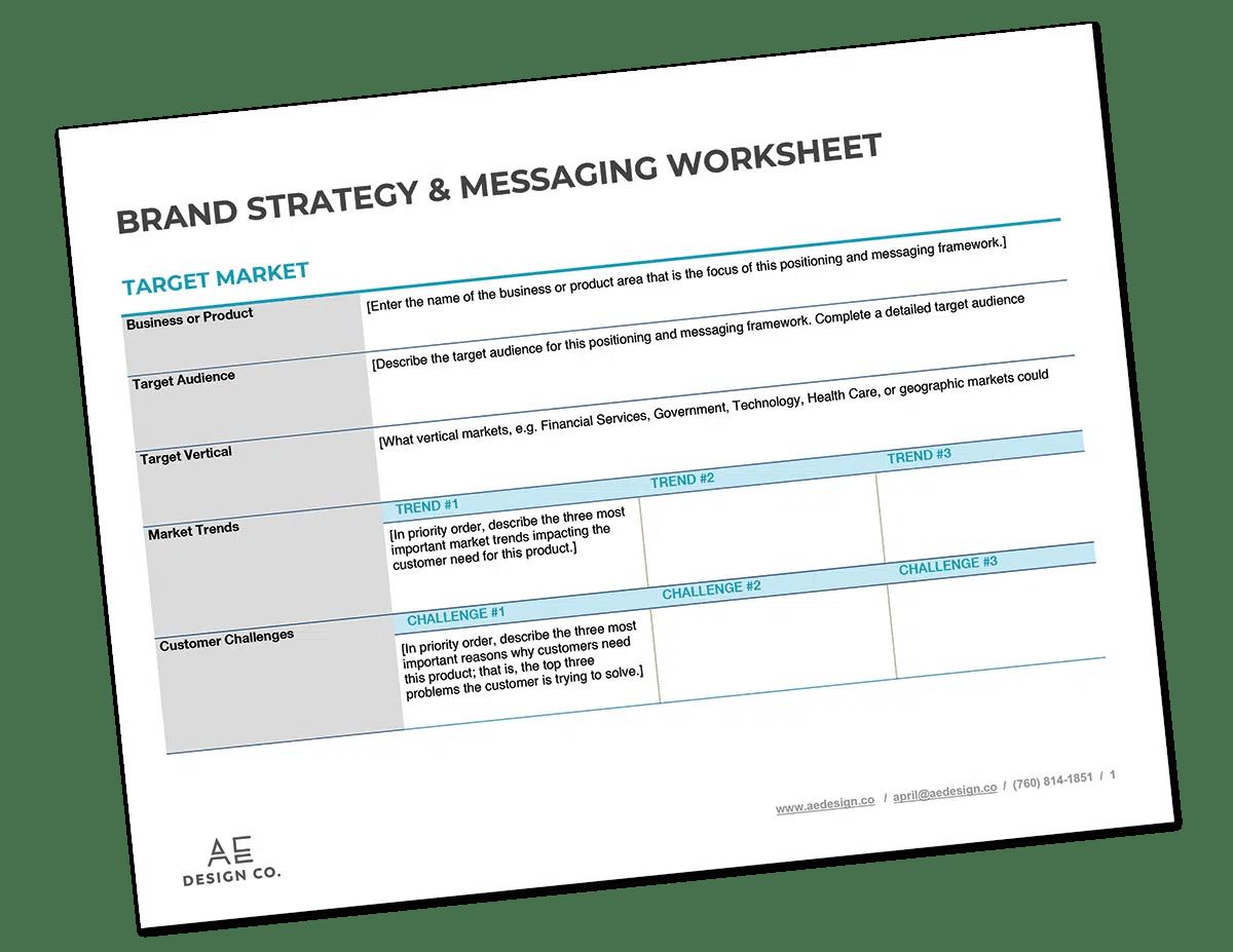 Brand Messaging Worksheet