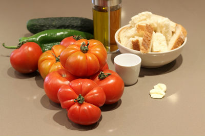 Gazpacho ingredientes