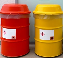 Hazardous Waste Barrels Empty