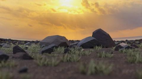 Rocks Sunset