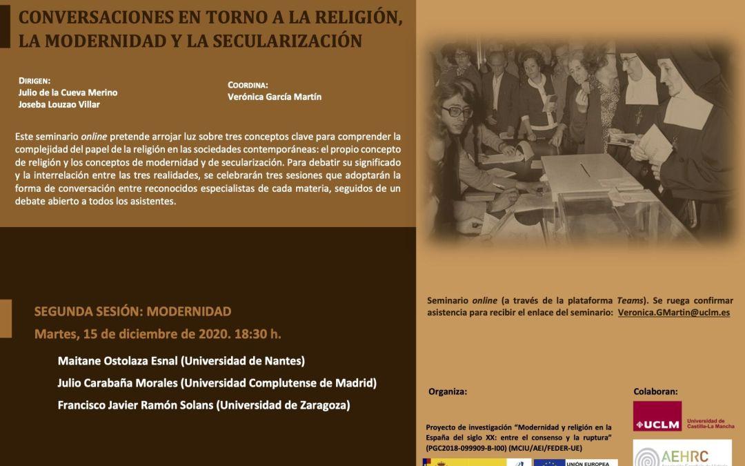 Segunda sesión seminario Religión, modernidad, secularización