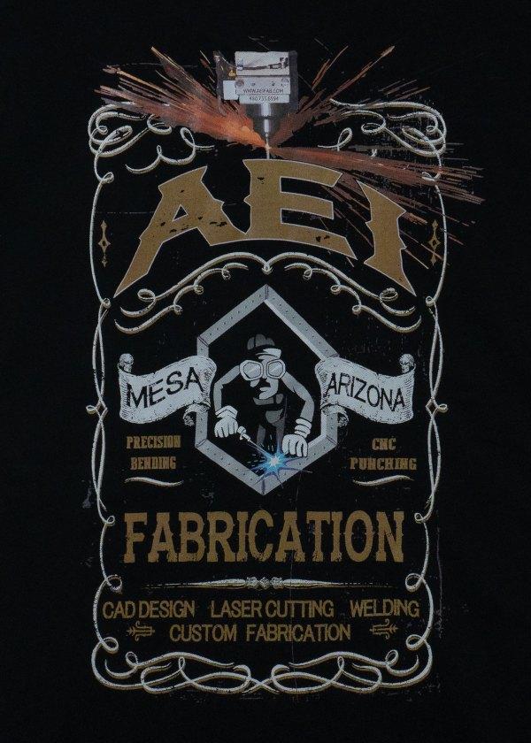 AEI Fabrication Shiner T-Shirt Black Rear View
