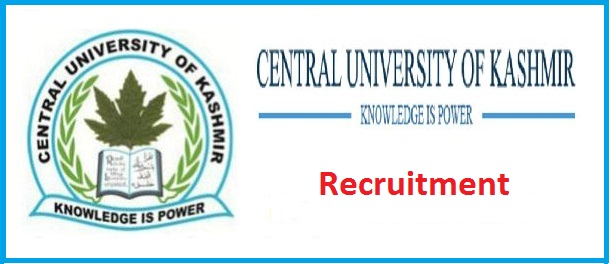 Central University of Kashmir : Various Posts | Recruitment 2018