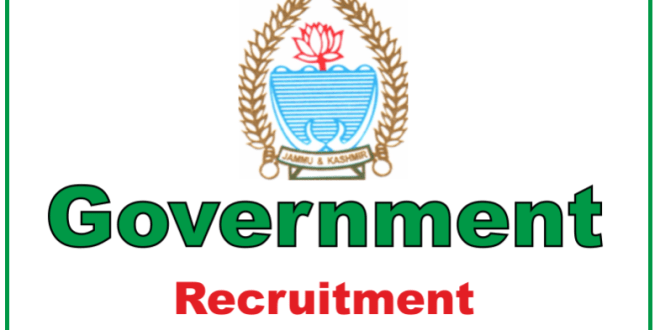 Jobs from Government of Jammu and Kashmir | Computer Operator, Ledger Keeper and More..