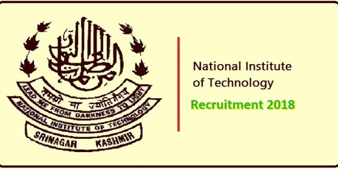 Multiple vacancies at National Institute of Technology | Salary upto 57,000pm