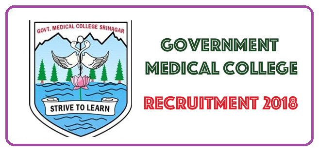 GMC Recruitment for Various Posts. 105 Seats to be filled.