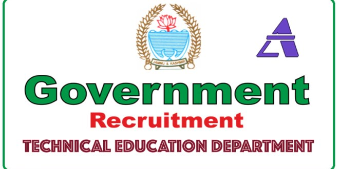 Job Advertisement Notification under Technical Education Department