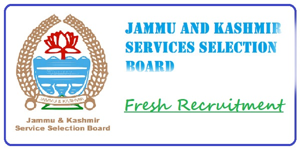 Jammu and Kashmir Services Selection Board Recruitment 2019 – JE and More