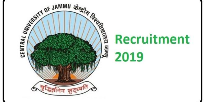 Central University of Jammu Recruitment 2019 – Various Posts