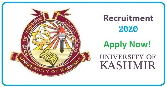 Kashmir University Recruitment 2020