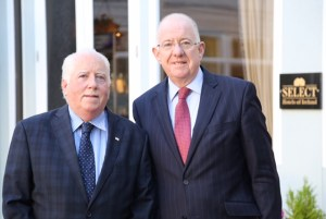 AEJ Chairman Richard Moore with Foreign Minister Charlie Flanagan at Congress.