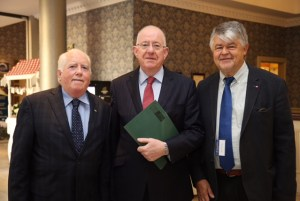 AEJ Chairman Richard Moore, Foreign Minister Charlie Flanagan and Otmar Lahodynskey at Congress