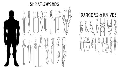 Shortswords-Daggers-&-Knives