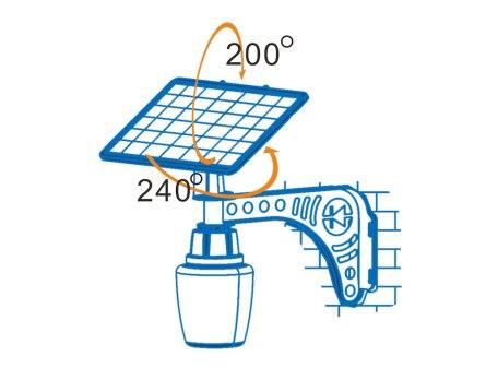8W LED Solar Courtyard Light