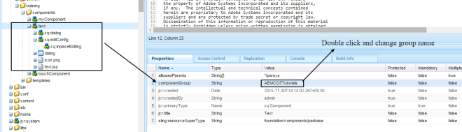 change rte plugin text component group name