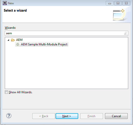 create aem multi module project in eclipse